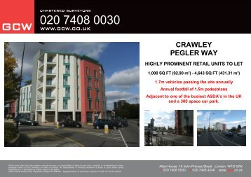 crawley pegler way highly prominent retail units to let - GCW
