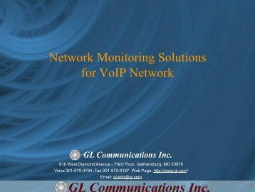 Network Monitoring Solutions for VoIP Network - GL ...