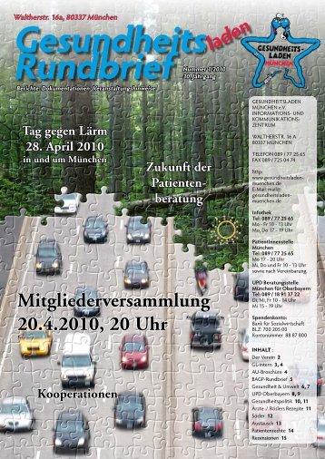 Rundbrief - Gesundheitsladen München e.V.