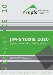 JIM-Studie 2010: Jugend, Information - Die Bildungsmacher