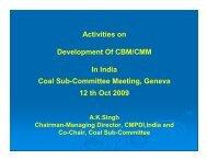 Activities on Development Of CBM/CMM In India - Global Methane ...