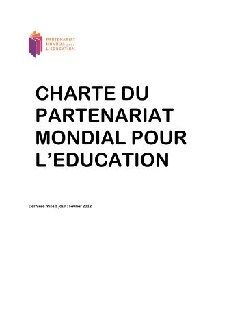charte du partenariat mondial pour l'education - Global Partnership ...