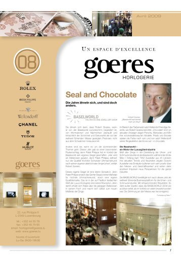 Seal and Chocolate - Goeres Horlogerie