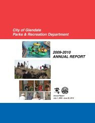 2009-2010 ANNUAL REPORT City of Glendale Parks & Recreation ...