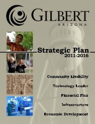 Strategic Plan 2011- 2016 - Town of Gilbert