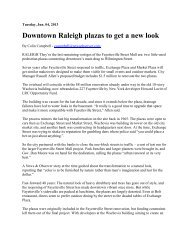 Downtown Raleigh plazas to get a new look