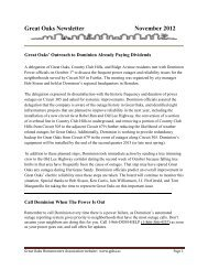 Monthly Newsletter - November 2012 - Goha.us