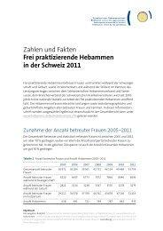 Zahlen und Fakten 2011 - Schweizerischer Hebammenverband