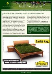 Newsletter Juni 2011 - Golfclub am Meer