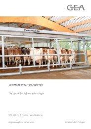 CowMander 007/015/600/700 Der sanfte Zutrieb ohne Umwege