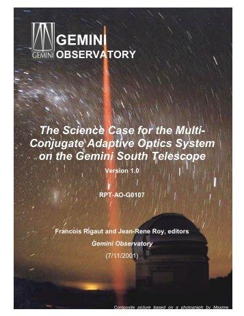 PDF (6.2MB) - Gemini Observatory