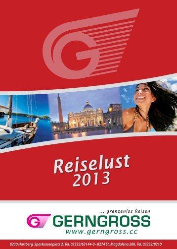 Jahreskatalog 2013 - Reisebüro Gerngross GmbH