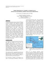Three Dimensional Numerical Modeling of Mindanao Geothermal ...