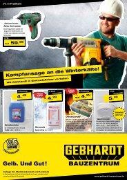 Kampfansage an die Winterkälte! - Gebhardt Bauzentrum