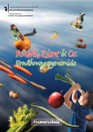 Arbeitsheft Ernährungspyramide - Gesundheit.bs.ch - Basel-Stadt