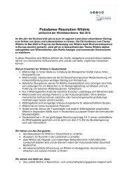 Potsdamer Resolution Wildnis - Gregor Louisoder Umweltstiftung
