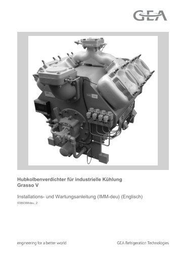 Hubkolbenverdichter für industrielle Kühlung Baureihe Grasso V