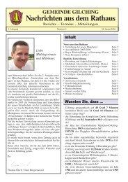 2. Jahrgang - Ausgabe v. 28.01.2006 - Gemeinde Gilching