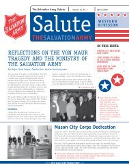 in this issue - Salvation Army