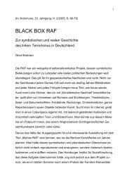 BLACK BOX RAF - Gerd Koenen
