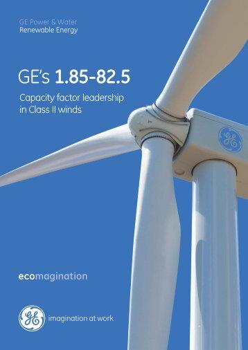 GE's 1.85-82.5 - GE Energy