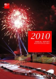 GL EVENTS 2010 ANNUAL REPORT