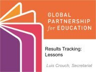 Results Tracking: Lessons - Global Partnership for Education