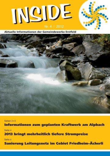 INSIDE Nr. 4/2012 - Gemeindewerke Erstfeld