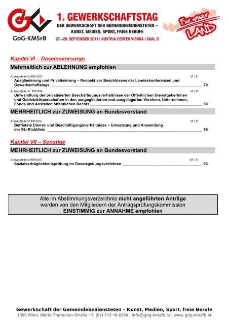 Anträgen - FSG