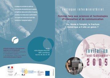 Femmes face aux sciences et technologies d ... - Genre en action
