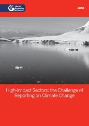 High-impact Sectors: the Challenge of Reporting on Climate Change