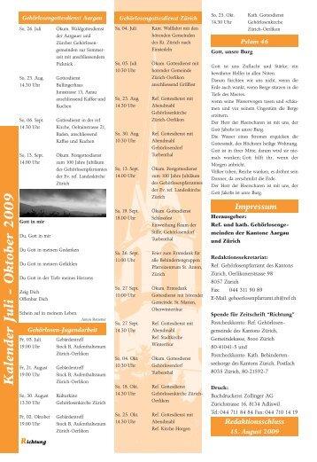 A ugust 2007 K alender Juli - Oktober 2009 - Katholische ...