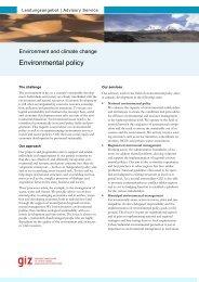 Factsheetmaske, 2-seitig, OE 47 - Umwelt und Klima, Stand ... - GIZ