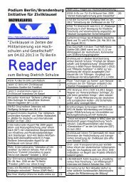 Reader zum Podium (pdf / 2,3 mb) - GEW - Berlin