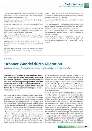 Urbaner Wandel durch Migration - VHW