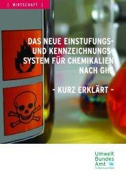Das neue Einstufungs- und Kennzeichnungssystem für Chemikalien ...