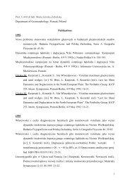 1 Prof. UAM dr hab. Maria Górska-Zabielska Department of ...