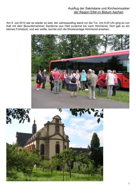 Weitere Infos und Bilder bitte auf diesen Satz ... - Gdg-steinfeld.de