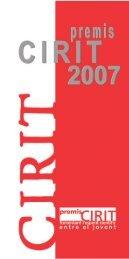 Premis CIRIT - Generalitat de Catalunya
