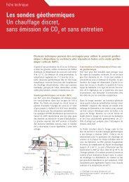 Les sondes géothermiques Un chauffage discret, sans émission de ...