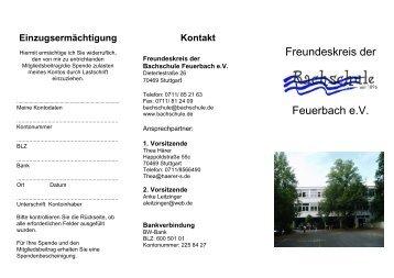 Unsere Ziele - Bachschule Feuerbach