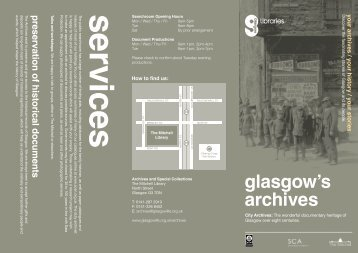 Archives Leaflet - Glasgow Life