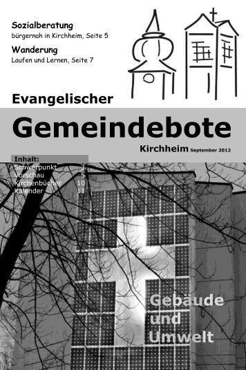 Gemeindebote Kirchheim September 2012 Sozialberatung