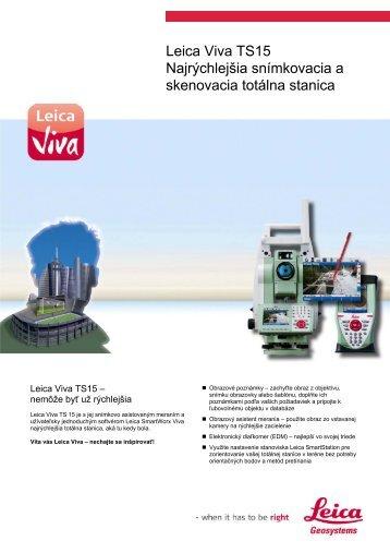 Prospekt Leica Viva TS15 - Geotech