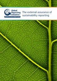 The external assurance of sustainability reporting - Global Reporting ...