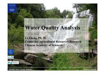 Water Quality Analysis