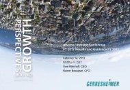 Presentation Financial Year 2012 - Gerresheimer
