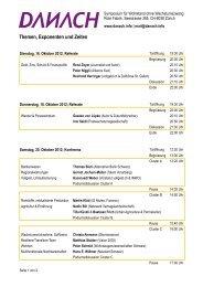 Themen, Exponenten und Zeiten - danach.info