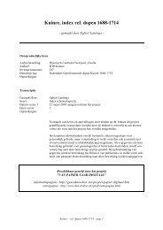 Kuinre, index ref. dopen 1688-1714 - Geneaknowhow.net