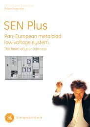 Pan-European metalclad low voltage system - G E Power Controls
